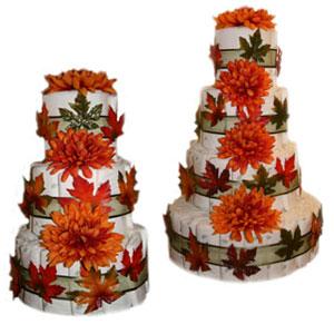Fall Fantasy Diaper Cakes