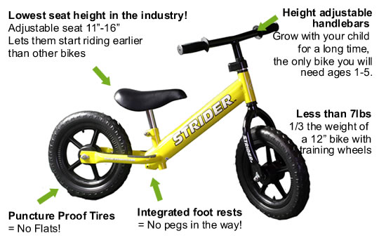 Bikes For Toddlers No Pedals child can ride a Strider