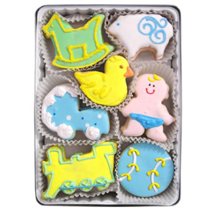 Organic Cookies Gift Set - New Baby Boy