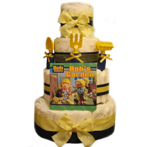"Organic 4 Tier ""Bob the Builder"" Diaper Cake"