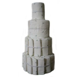 Organic 4 Tier Do-It-Yourself Diaper Cake