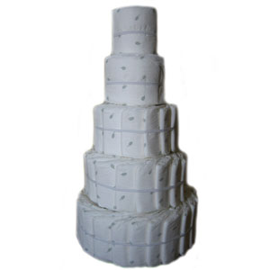 Organic 5 Tier Do-It-Yourself Diaper Cake
