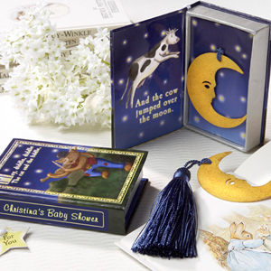 Moon Bookmark in Nursery Rhyme Keepsake Book Box