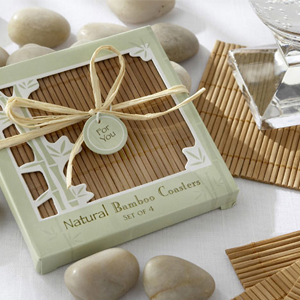 Bamboo Eco Friendly Coaster Baby Shower Favors