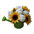 Organic Cloth Diaper Bouquet - Green Watering Can