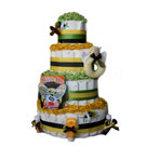 4 Tier Buzzy Bee Organic Diaper Cake