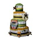 4 Tier Buzzy Bee Organic Diaper Cake