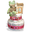 Organic 2-Tier Froggie Diaper Cake or Centerpiece