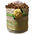 Organic Vanilla Yellow Rose Diaper Cupcake