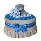 Organic Blue Rose Bouquet Deluxe Diaper Pound Cake