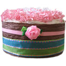 Organic Chocolate Pink Rose Diaper Pound Cake
