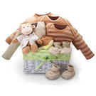 Organic Baby Gift Basket -  Monkey Business