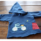 Handmade Childrens Bike Safely Organic Hoodie
