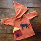 Handmade Organic Childrens Chocolate Dog Hoodie