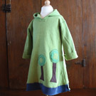 Organic Handmade Childrens Tree Hugger Long Hoodie