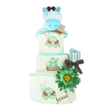 Organic Personalized  - Baby Boy Diaper Cake